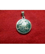 HAND MADE PENDENT FROM MEXICO, WITH TURQUOISE I... - $10.00