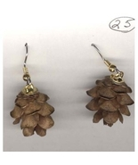 Natural Mini PINECONES EARRINGS Seed Pod Autumn... - $4.97