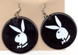 PLAYBOY BUNNY EARRINGS -Vintage Sexy Gumball Charm Funky Jewelry - $5.97