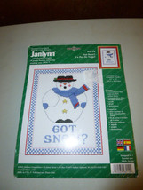 Janlynn Got Snow? Snowman Stamped Cross Stitch Kit - $20.00
