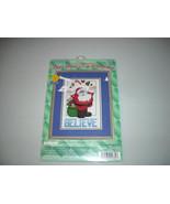 Janlynn Believe Christmas Santa Counted Cross Stitch Kit - $15.00