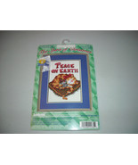 Peace on Earth Christmas Cat Mouse Counted Cross Stitch Kit Janlynn - $15.00