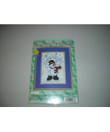 Janlynn Let it Snow Christmas Snowman Winter Counted Cross Stitch Kit - $15.00