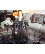 Junior Drake 'Juliette' Leather Bag Olive Green New With Tags! *New Lowe... - $149.50