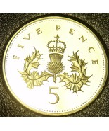 Cameo Proof Great Britain 1992 5 Pence~Awesome~We Have UK Coins~Free Shi... - €5,57 EUR