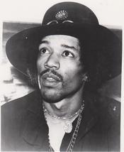 Jimi Hendrix Hat Vintage 8X10 BW Music Memorabi... - $4.99