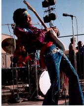 Jimi Hendrix Monterrey MM89  Rock Vintage 8X10 Color Music Memorabilia P... - $6.99