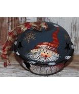 47083BN - Santa Blue Bell Metal Christmas Ornament  - $2.50