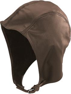 Henschel Garment Leather Unlined Aviator Helmet Buckle Made In USA Black Brown