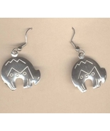 Zuni SPIRIT BEAR EARRINGS-Native American Indian Mexican Jewelry - $6.97