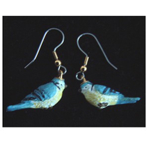 BIRD EARRINGS -Mini Realistic Spring Garden Song Charm Jewelry-E - $6.97