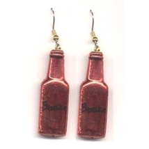 Bottle Of Booze Liquor Earrings   Bartender Jewelry   Red - $3.97