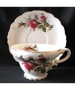 Royal Sealy Tea Cup and Saucer Moss Rose - $28.00