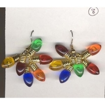 Christmas LIGHT BULB EARRINGS-Holiday Gift Jewelry 6-Color-3/4-inch - $6.97