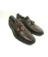 Stacy Adams Genuine Snake Brown Leather Tassel Loafers Size US 8 M - $48.02