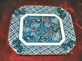 "Rare Vintage Japanese Plate Royal Blue & White 6""x7"" - $43.99"