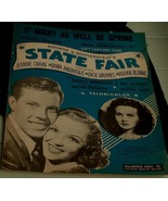 It Might As Well Be Spring, Richard Rodgers 1945  State Fair OLD SHEET M... - $5.93