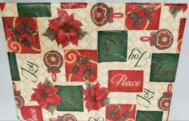 """Superior Tablecloth Flannel Back,60""""x80"""" OVAL, CHRISTMAS, WINTER, JOY,LO... - $19.79"""