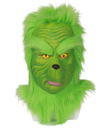 Grinch Cosplay Latex Mask How the Grinch Stole Christmas Green Helmet Co... - $49.00