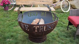 Cedar Creek Sculptures - Trust In God Fire Pit - Rustic Elegance - $1,165.00+