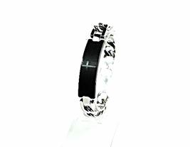 QB11 Dalimara Stainless Steel 'Our Father' Prayer Quantum Energy Bracelet 2-Tone - $39.95