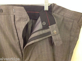 Adolfo Big and Tall 2-Piece Suit Set Intermediate Charcoal Gray with Pinstripes image 5