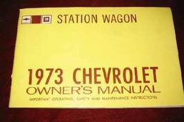 Vintage 1973 73 Chevy Chevrolet GM Station Wagon Owners Manual - $19.99