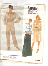 Vogue Sewing Pattern 2746 Anne Klein Pants Skirt Dress Size 14 - $5.50