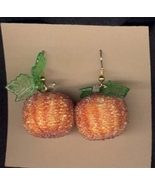 PUMPKIN EARRINGS-Fancy Thanksgiving Halloween F... - $8.97