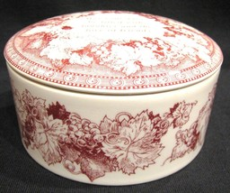 Spode Trinket Box Cranberry Red Mementos - $28.00