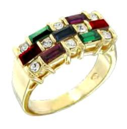Swarovski Crystal Multi Colored  Ring Size Choice