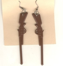 GUN RIFLE SHOTGUN EARRINGS-Fun Hunting Western Charm NRA Jewelry - £3.56 GBP