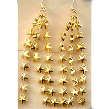 SHOOTING STARS FUNKY EARRINGS-Astronomy Astrology Charm Jewelry - $6.97