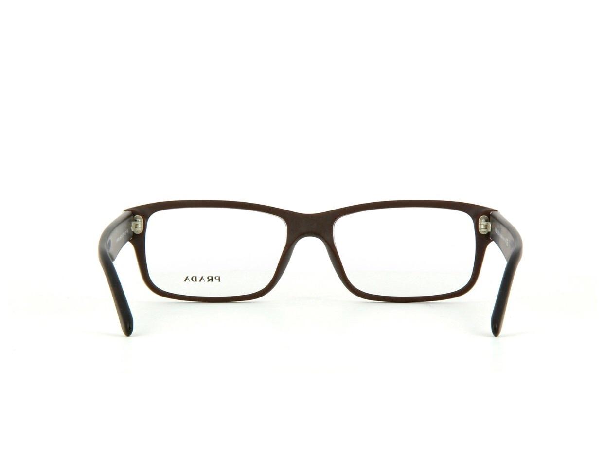 d63f57472ad New Authentic Prada PR 16MV TV6101 Matte Brown Eyeglass Frame 53mm
