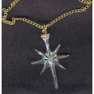 Christmas 20north 20star irridescent 20acrylic 20necklace