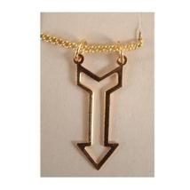 ARROW CHARM PENDANT NECKLACE AMULET-Retro Vintage Jewelry-GOLD - $3.97