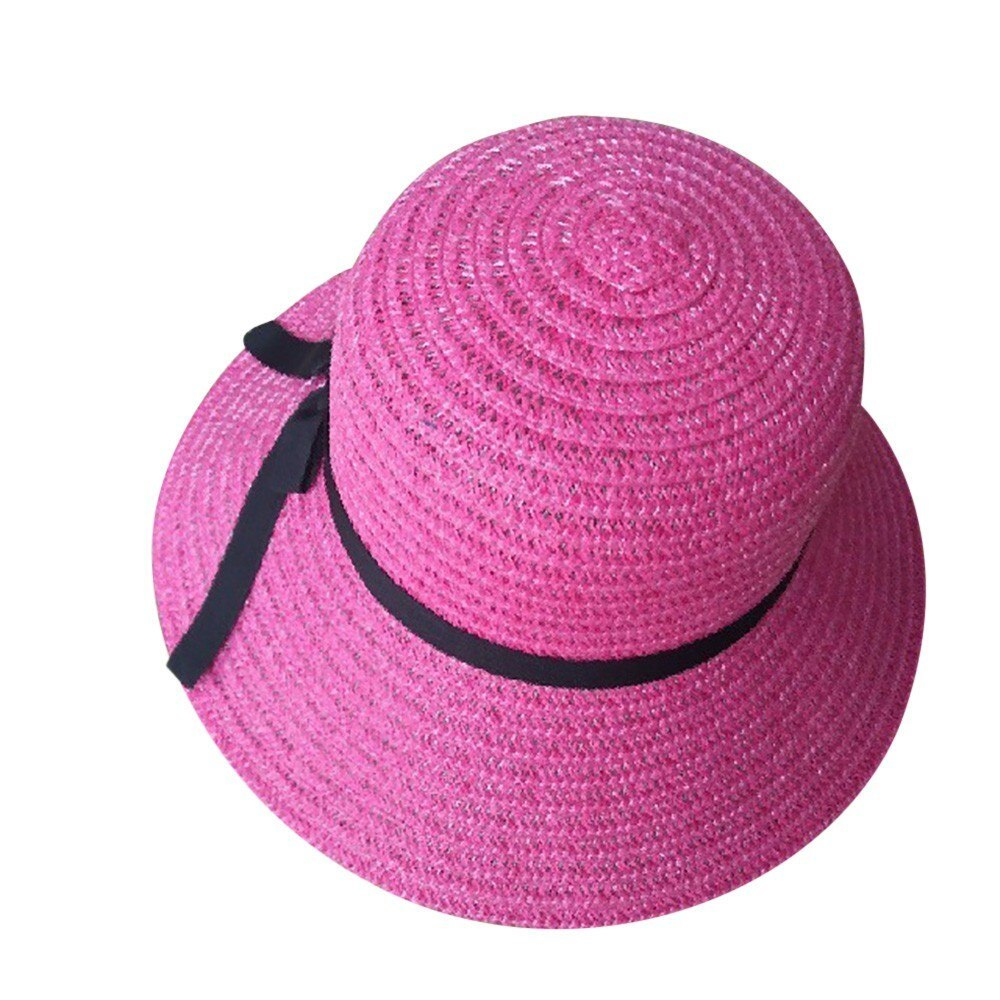 sun hats for women summer visor hat Floppy Foldable Ladies Straw Beach Wide Brim image 3