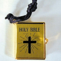 BIBLE PENDANT NECKLACE-REAL Quinceanera Christian Jewelry-GOLD - $4.97