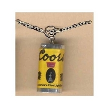 COORS BEER CAN PENDANT NECKLACE-Punk Waitress Bar Funky Jewelry - $3.97