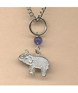Elephant 20silver 20charm 20necklace thumbtall