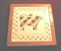 Vintage Retro Kamenstein Ceramic Tile Coaster Wall Decor Trivet Plaid Co... - $29.99