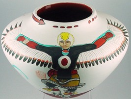 """Zia Indian 10.5"""" Eagle Dancers Pottery by Jose ... - $4,425.30"""