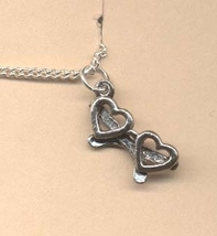 HEART GLASSES PENDANT NECKLACE-Valentines Day Love Charm Jewelry - $4.97