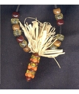 INDIAN CORN PENDANT NECKLACE-Thanksgiving Fall Harvest Jewelry - $6.97