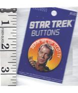 """Star Trek Beam Me Up Scotty, Captain Kirk, Spock, Enterprise 1"""" Pin Buttons - $12.99"""