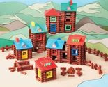 400 piece wood log building set gift cabins forts frontier christmas toys kids thumb155 crop