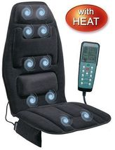 Massage Chair Cushion Back Pain Heat Treatment Home Auto Office Electric... - $47.99