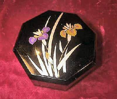 Vintage Yamanaka Japan Jewelry Case Trinket Box Floral Japan