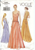 Vogue Pattern 7585 Formal Princess Seam Skirt & FItted Top Choose Size U... - $9.99+