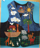 HANDCRAFTED NOAK'S ARK LINED VEST w/ DREAMSPINNER  FABRIC Size L NEW - $7.87